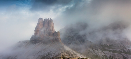 Panorama of the Italian Alps. Dolomites mountains, Italy, Europe