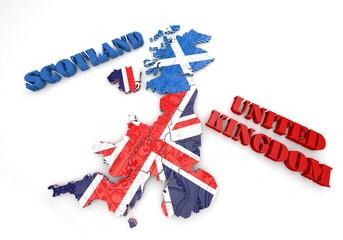 map illustration of Scotland and England