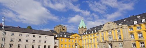canvas print picture Folkwang Universität  u. Benediktinerkloster ESSEN-WERDEN