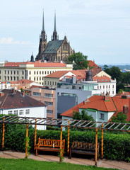 Brno and the cathedral, Czech Republic, Europe