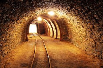 Fototapeta tunel w kopalni
