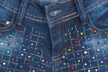 Jeans with pockets close-up