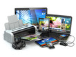 Computer devices. Mobile phone, laptop, printer, camera and tabl - 70129737
