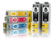 Cartridges for colour inkjet printer. CMYK. - 70129750