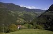 canvas print picture - Südtiroler Tal bei Kastelruth