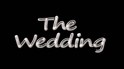 the wedding. black. intro