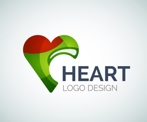 Love, heart, like, logo made of color pieces