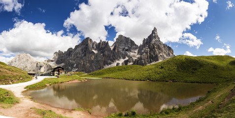 Pale di San Martino, landscape with lake