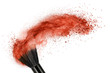 makeup brush with red powder isolated - 70130538