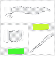 Papier- Einrisse+ farbige Notizpapiere
