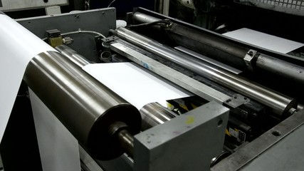 Newspaper printing in print house