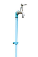 water tap on wall , isolate background
