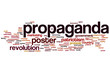 Постер, плакат: Propaganda word cloud