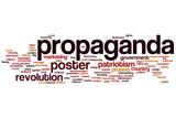Propaganda word cloud poster