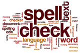 Fototapety Spell check word cloud
