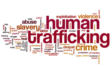 Human trafficking word cloud