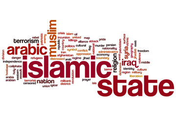 Islamic state  word cloud