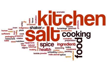 Kitchen salt word cloud