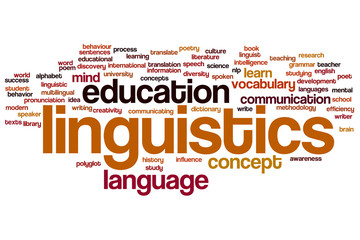 Linguistics word cloud