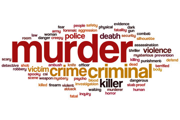 Murder word cloud