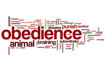 Obedience word cloud