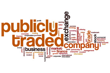 Publicly traded word cloud