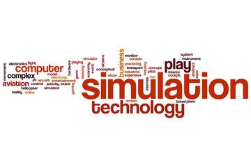 Simulation word cloud