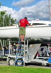réparation d'un yacht