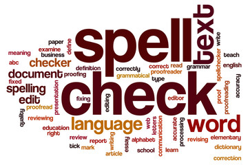 Spell check word cloud