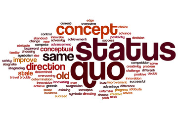 Status quo word cloud