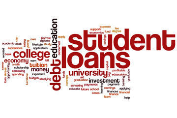 Student loans word cloud
