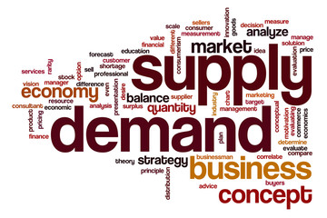 Supply demand word cloud