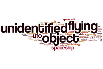 UFO word cloud
