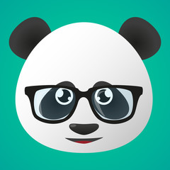 Panda avatar wearing glasses
