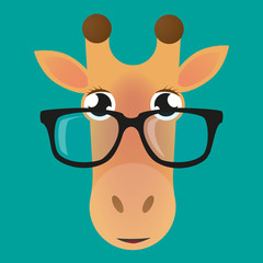Giraffe avatar wearing glasses