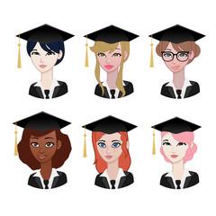 Woman avatar: graduation students