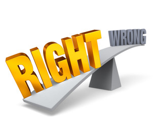 Right Weighs In Against Wrong