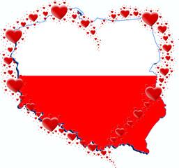 Polska i serce z serc