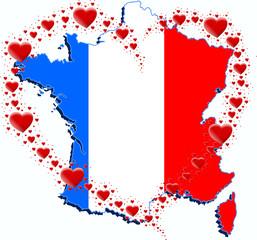 Francja i serce z serc