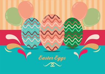 Easter Eggs Card Design