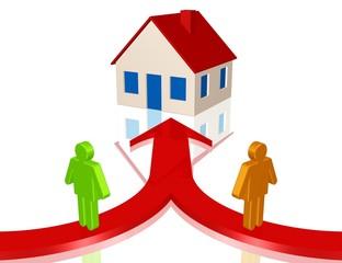 Zusammenziehen, Hausbau, Hauskauf