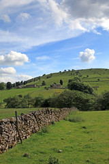 Dry stone wall in Derbyshire England.