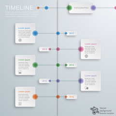 Infographics Vector Background #Timeline