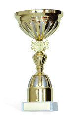 Gold Cup isolated on a white background.