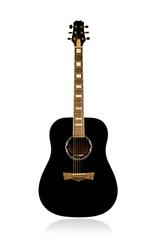 Classical acoustic black guitar