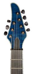 Closeup head blue guitar