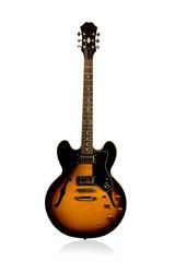 Beautiful black and redhead electric guitar