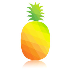 Pineapple colorful polygonal abstract. Vector illustration