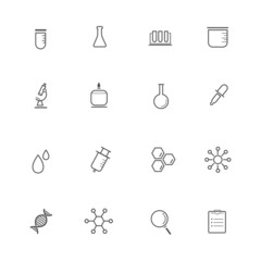 Science Equipment and Lab Icons