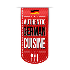 Authentic german cuisine banner design